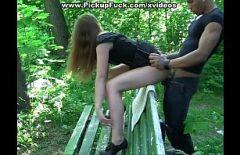 شرطي يمارس الجنس بشدة مع عشيقها في حديقة Futacios
