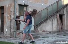 تم أخذ الشقراء من الشارع ومارس الجنس معها في مبنى مهجور